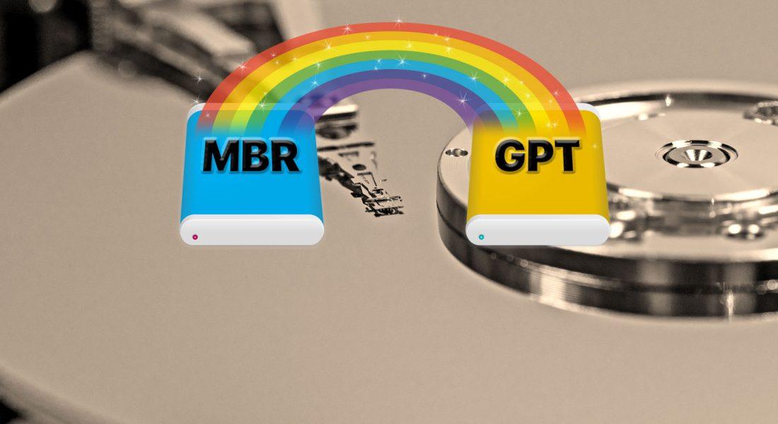 Как конвертировать MBR в GPT без потери данных в Windows 10