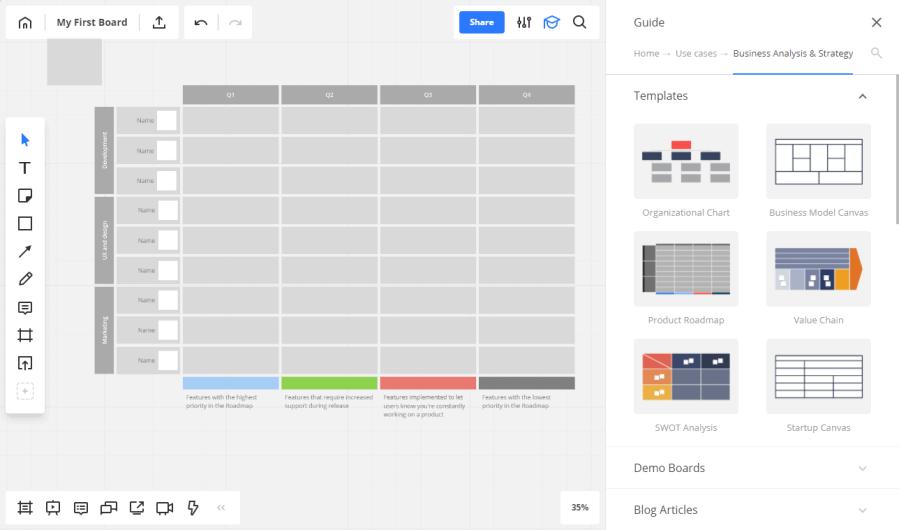RealtimeBoard — простая виртуальная доска