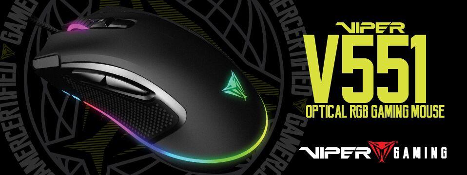 Patriot анонсировали игровые оптические мыши V550 и V551