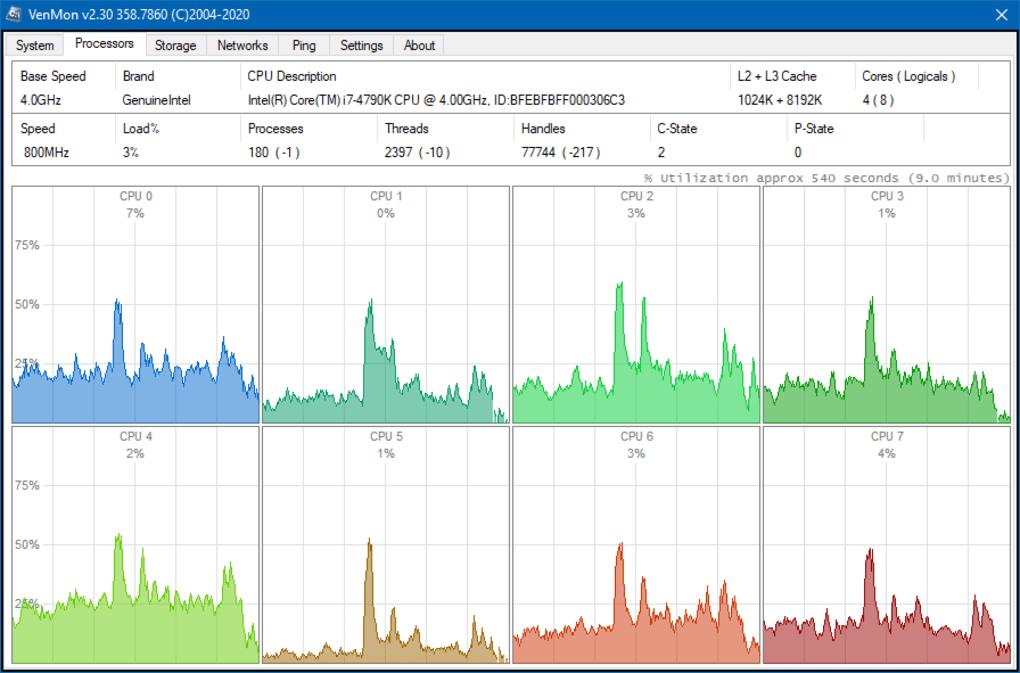 VenMon — мониторинг системы, минималистичный виджет и инструмент мультипинга