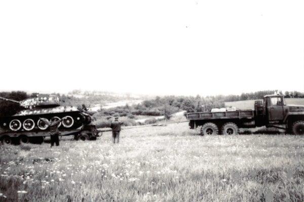 Mäksa tanki T-34/85 äravedu 1993 a.