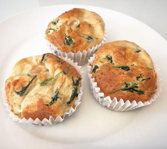 Super lækre æggemuffins med mozzarellaost og spinat - Low-Carb / LCHF