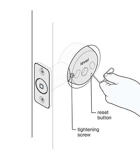 How to reset your lock to factory settings.