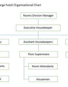 The two examples of organisation charts you have looked at above are layouts reporting structure that would apply in  hotel also educate courses rh