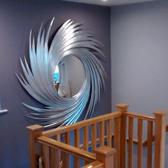 Unique Mirror install in stairwell