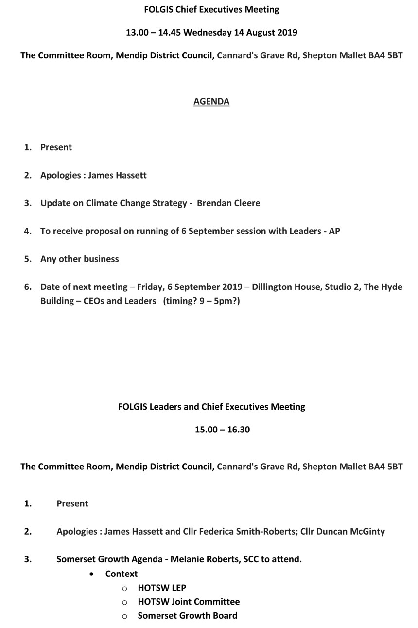 Microsoft Word - FOLGIS Agenda for Meetings 14 August 2019