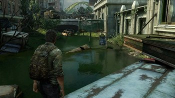 Joel can swim in flooded areas and dive to find hidden secrets