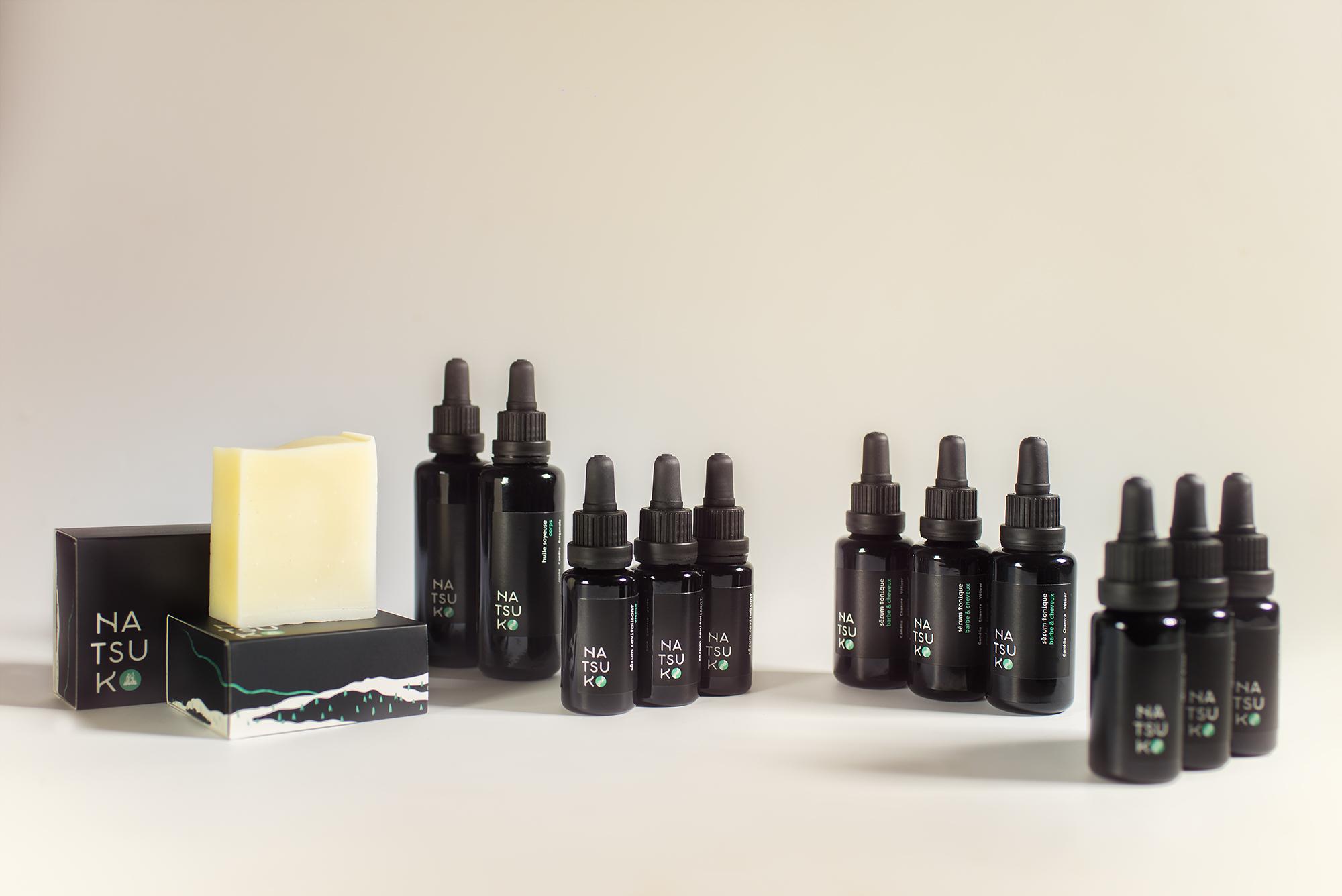 photo des produits natsuko sur un fond blanc uni