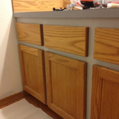 Cheap Kitchen Cabinet Hardware Large Clocks Refinishing A Wood Bathroom Vanity (part 1): Preparation ...