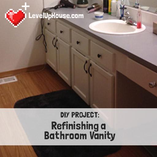Refinishing a Wood Bathroom Vanity Part 1 Preparation