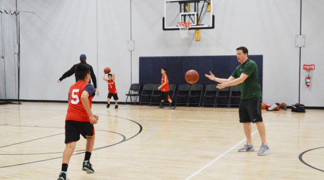 Coach Flitter Basketball Trainer Teaching Fundamentals