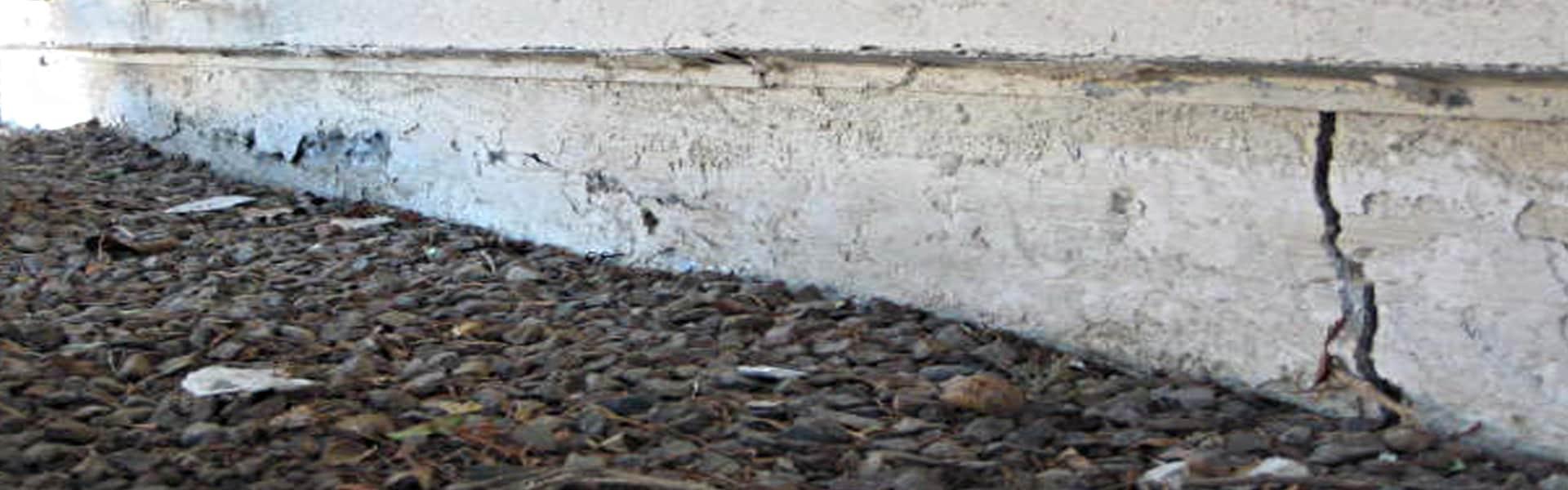 Exterior Foundation Crack Repair