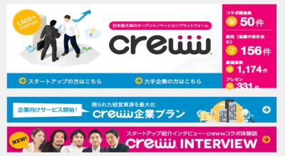 日本最大のオープンイノベーションプラットフォーム creww