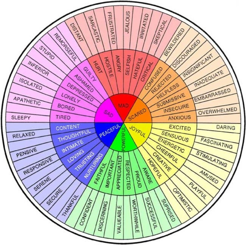 The Feelings Wheel – A Great Way to Redefine Your Emotional Illiteracy