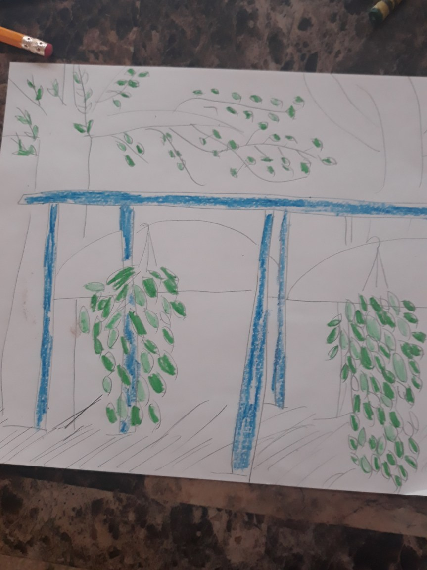 Artwork of the Day – Potted Plants and Trees Under a Bagoda