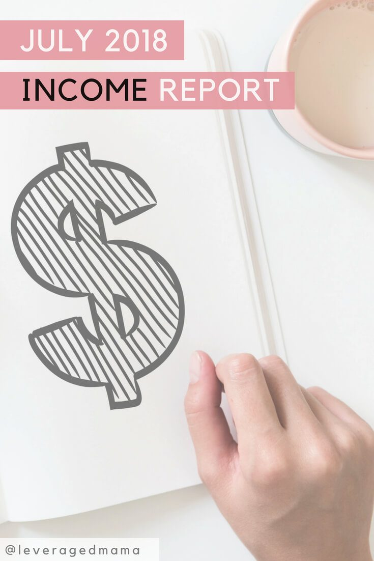 July income report. The Leveraged Mama.