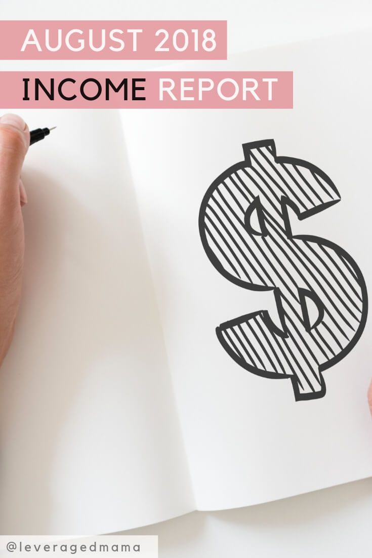 August income report. The Leveraged Mama. Pinterest.