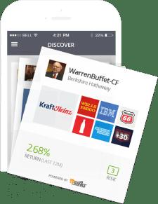 eToro CopyPortfolio Screenshot. Warren Buffet's portfolio.