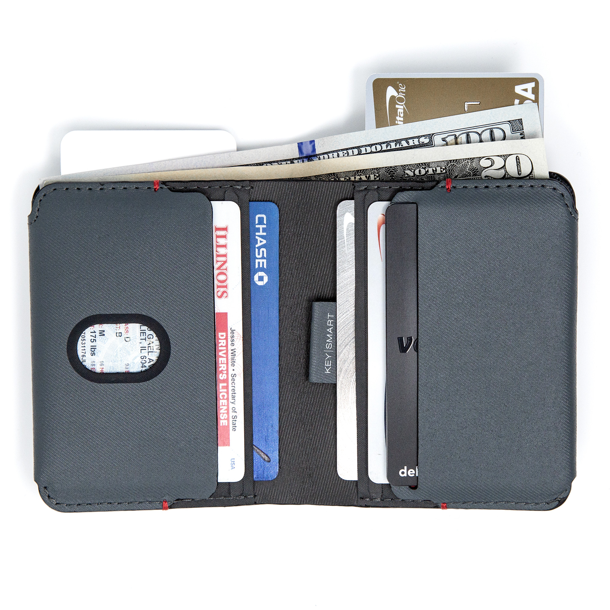 e59c93d95b5 KeySmart Slim Bi-Fold Wallet | Minimalist Bifold Wallet