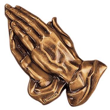 Bronze Praying Hands Emblem 2497 D