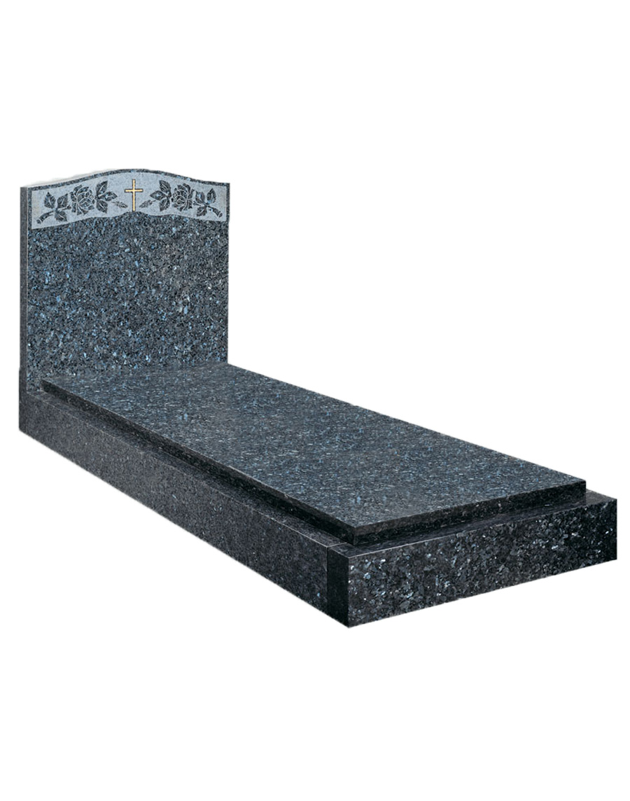 Blue Pearl Cover Slab Memorial