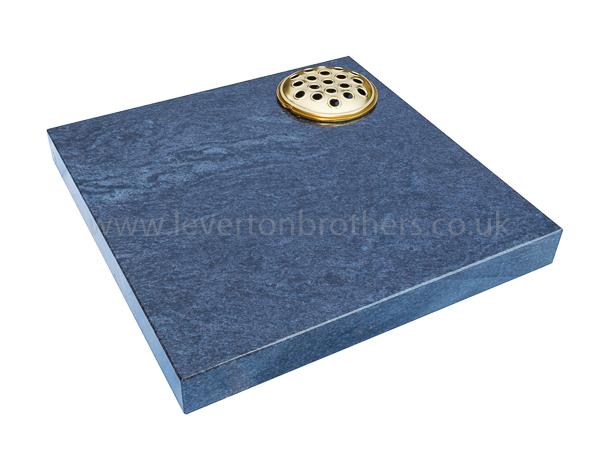 Blue Cremation Headstone