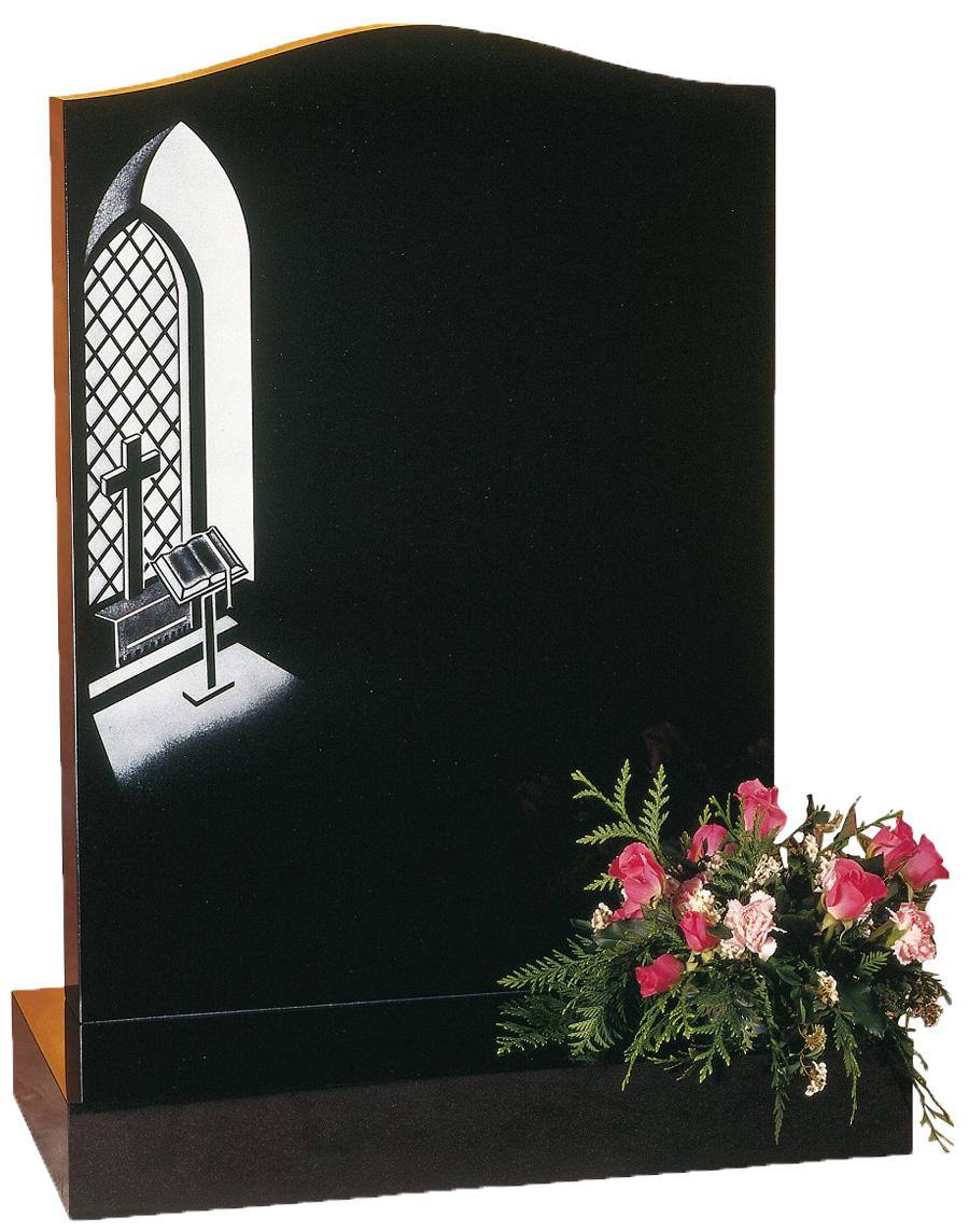 Church Window Headstone