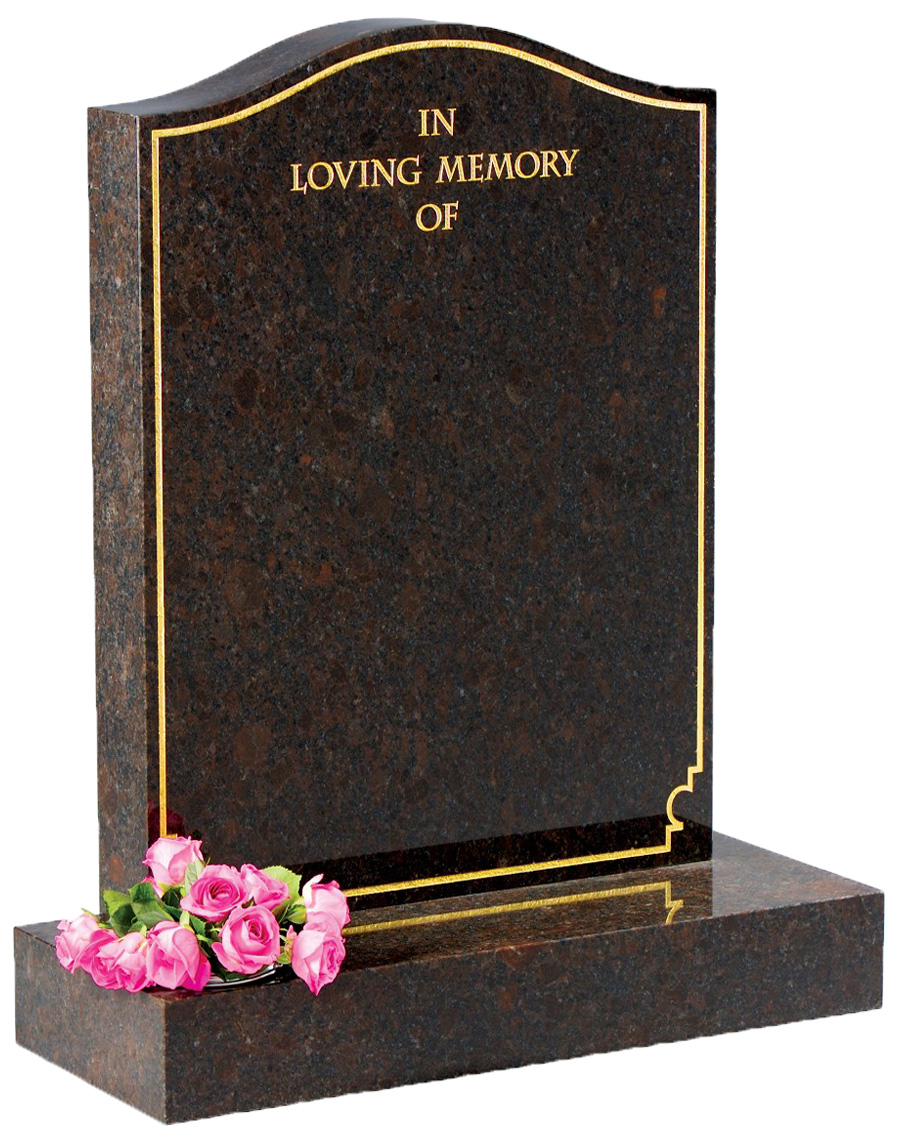 Coffee Brown Granite Headstone