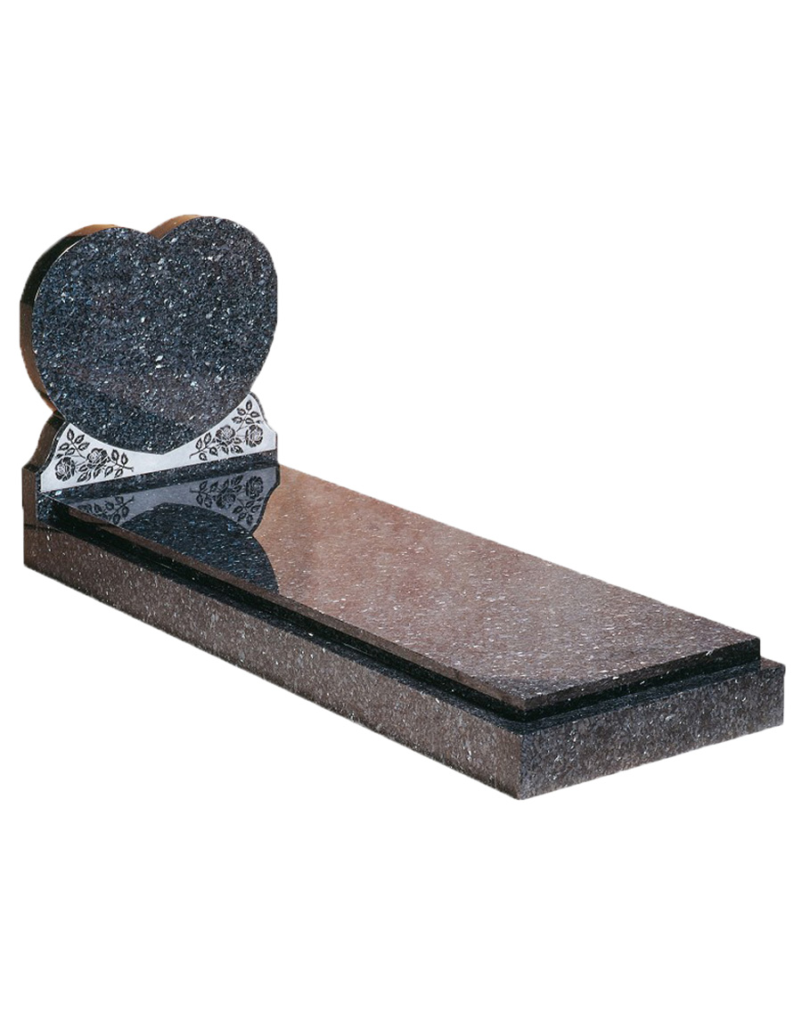 Heart and Cover Slab Memorial