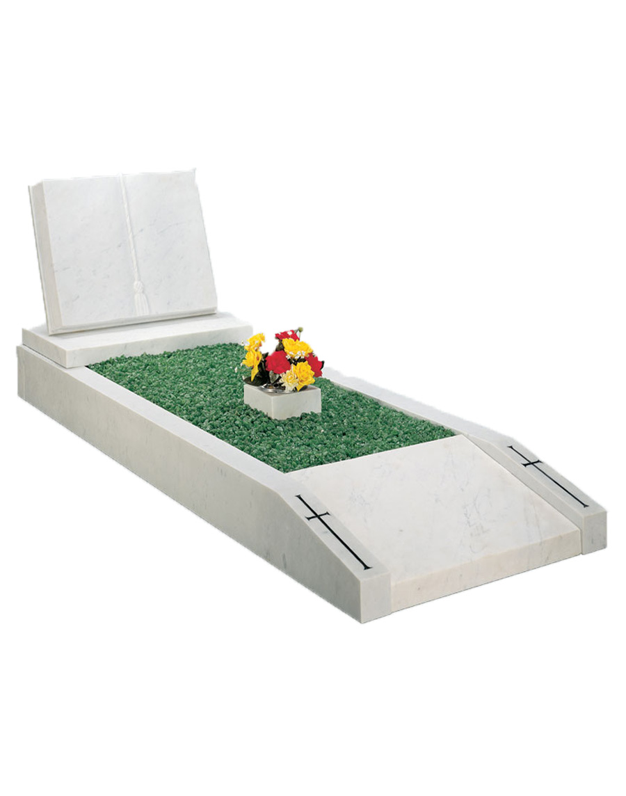White Marble Kerbed Book