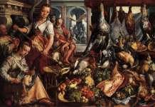 Joachim Bueckelaer - O bucătărie bine-aprovizionată, 1566, ulei pe lemn, Rijksmuseum, Amsterdam