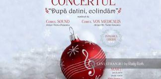 Corul Vox Medicalis & Corul Sound - Dupa Datini Colindam Concert Muzica Corala