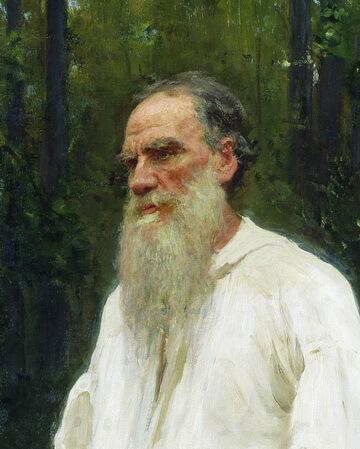Lev Tostoi portret de Repin 1901