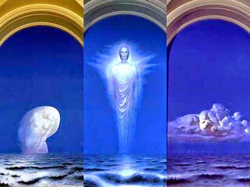 Sabin Bălașa Tripticul Luceafarul pictura murala Universitatea a i cuza Iasi
