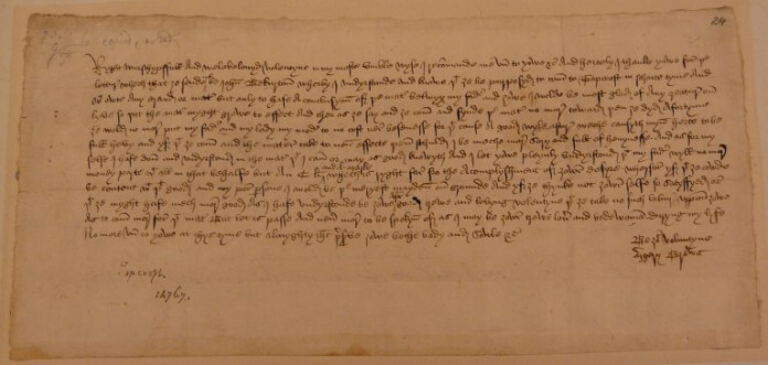 Margery Brews, Valentine Letter, February 1477, London, British Library, MS. Additional 43490, f. 24