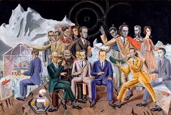 Max Ernst, Au rendez-vous des artistes, 1922, Museul Ludwig Köln