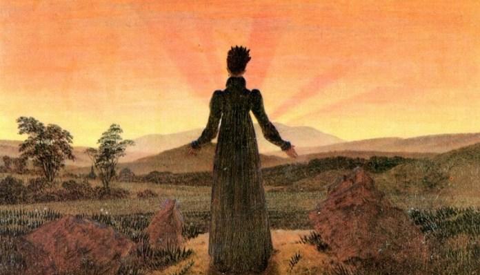 Caspar David Friedrich Femeie privind răsăritul de soare