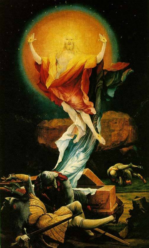 Resurrection panel from the Isenheim Altarpiece Matthias Grünewald 1510