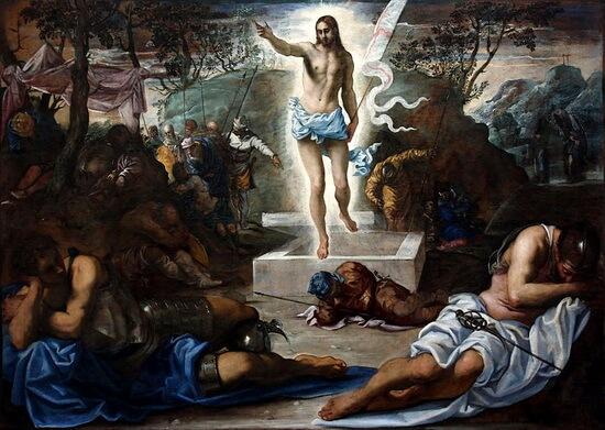 Tintoretto La_Resurrezione Academia din Venezia