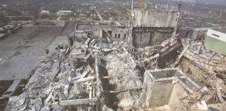 Centrala de la Cernobîl după accidentul din 26 aprilie 1986