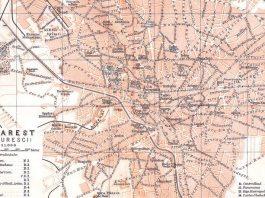 București, hartă de la 1900