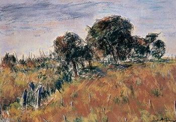 Călin Alupi pictor basarabean Grâul roşu