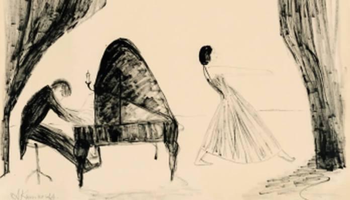 """Alexander Camarro, """"Dansatoarea și Pianistul"""", 1930"""
