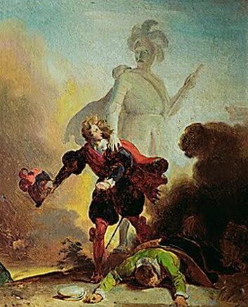 Fragonard, Don Juan și statuia Comandorului