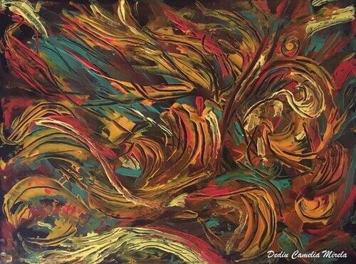 """Camelia Dediu, """"Emoții"""", acrilic pe pânză. © Camelia Dediu"""