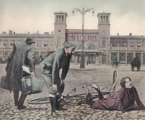 Gara de Nord pe la 1900 Sursa Bucureștiul meu drag