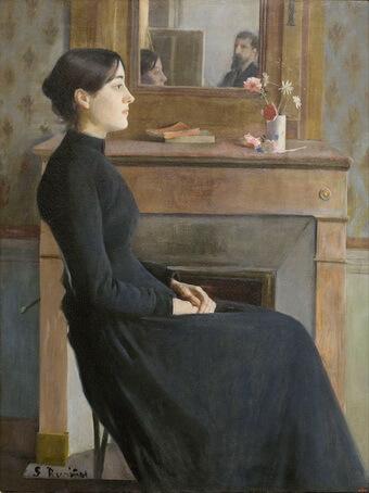 """Santiago Rusinol, """"Portret de femeie"""", 1894, Muzeul Național de Artă al Cataloniei, Barcelona"""
