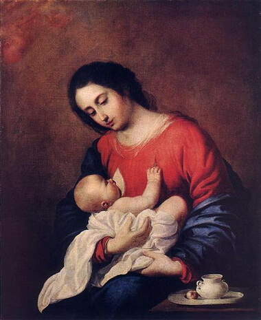 zurbaran madonna-with-child-1658.jpg!Large