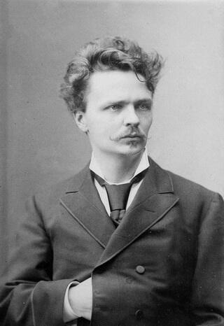 August Strindberg, fotografie de Robert Roesler,1881–1882