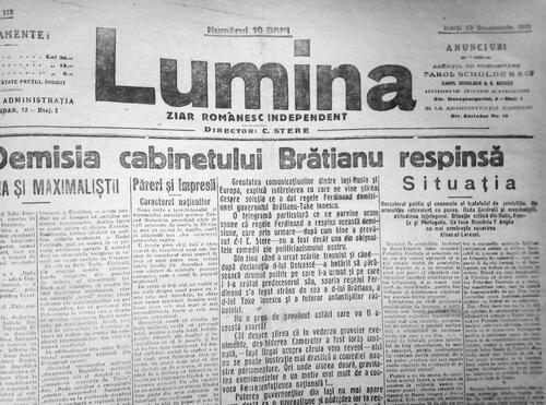 ziarul lumina c stere dec 1917